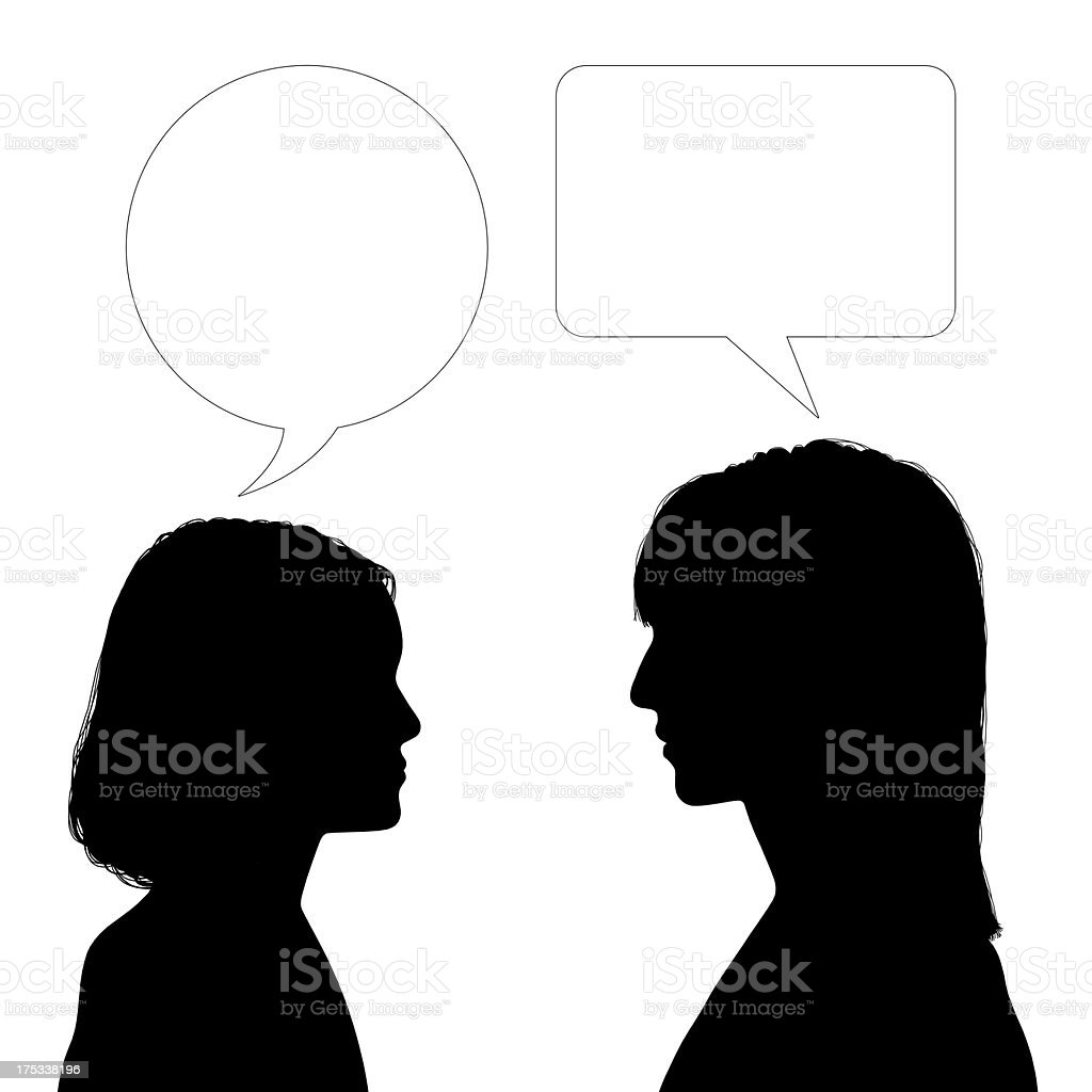 mother and daughter dialogue vector art illustration