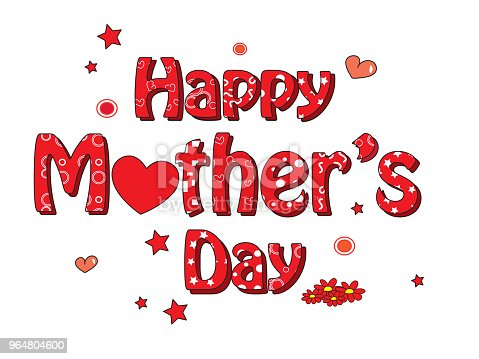 Mother Day Stock Vector Art & More Images of Art 964804600