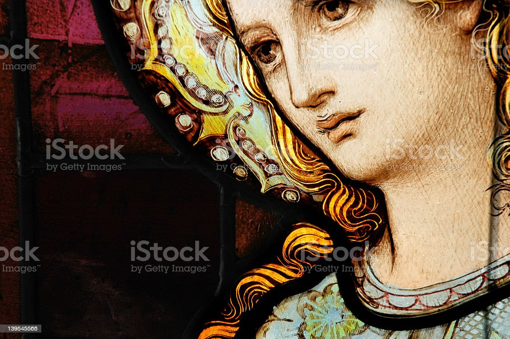 Mother Mary Window royalty-free stock vector art