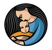 istock mother with long hair holding a child 1152394235