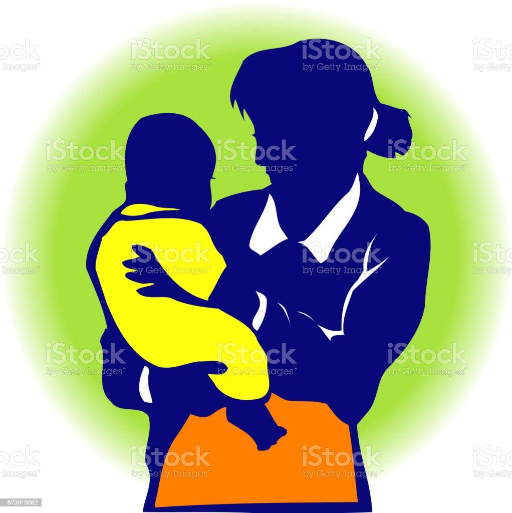 Silhouettes de mère-enfant silhouettes de mèreenfant – cliparts vectoriels et plus d'images de adulte libre de droits
