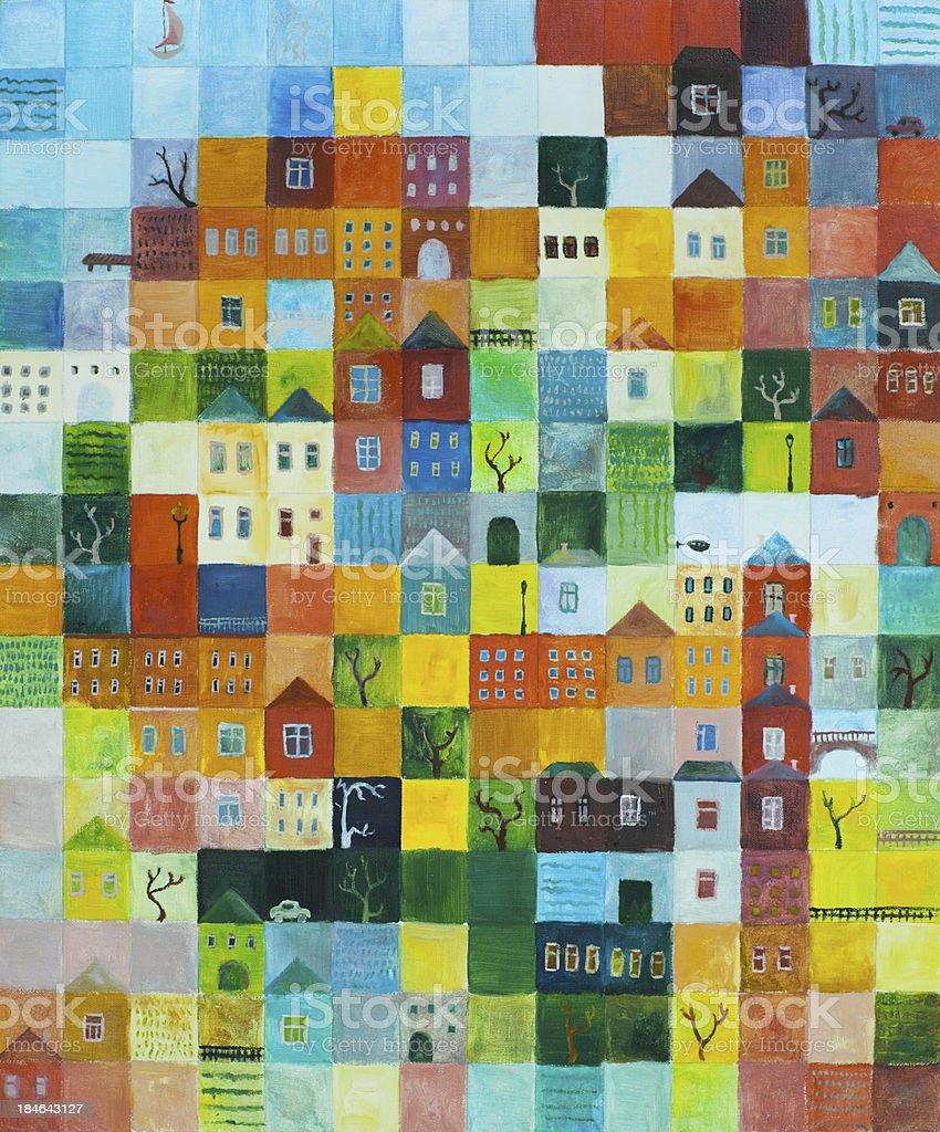 Motley city royalty-free stock vector art