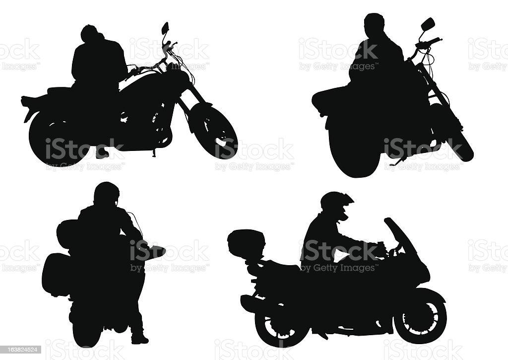 Motobikers royalty-free motobikers stock vector art & more images of cartoon