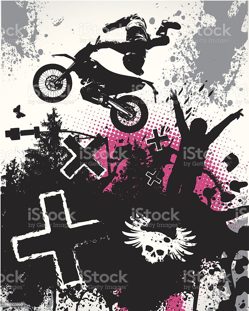 Motocross Poster vector art illustration