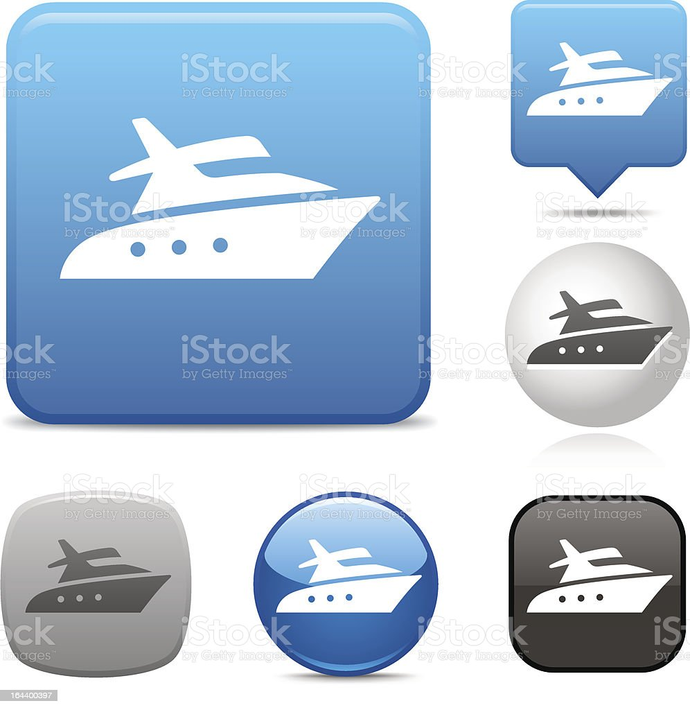 Motor Yacht icon royalty-free stock vector art