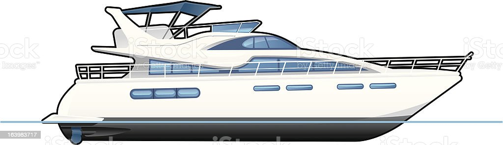 royalty free motor yacht clip art vector images illustrations rh istockphoto com yacht clipart yacht clipart black and white
