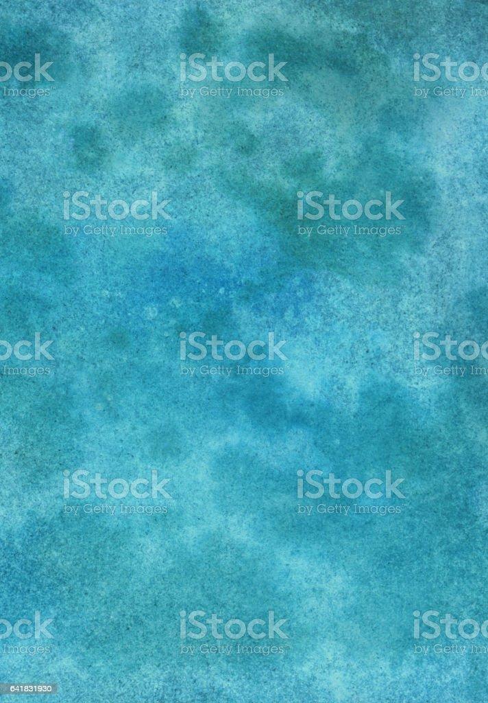 Mottled dark turquoise hand painted background vector art illustration