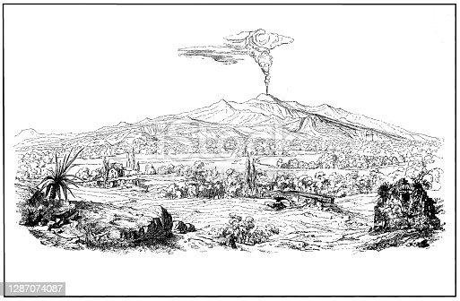 Illustration of a Mount Etna