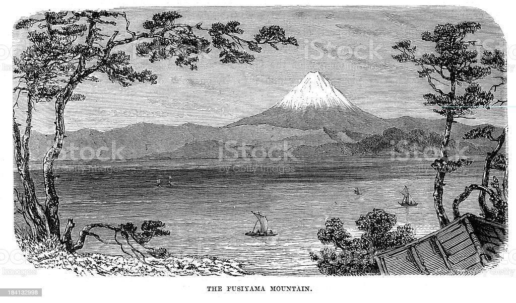 Mount Fuji royalty-free stock vector art
