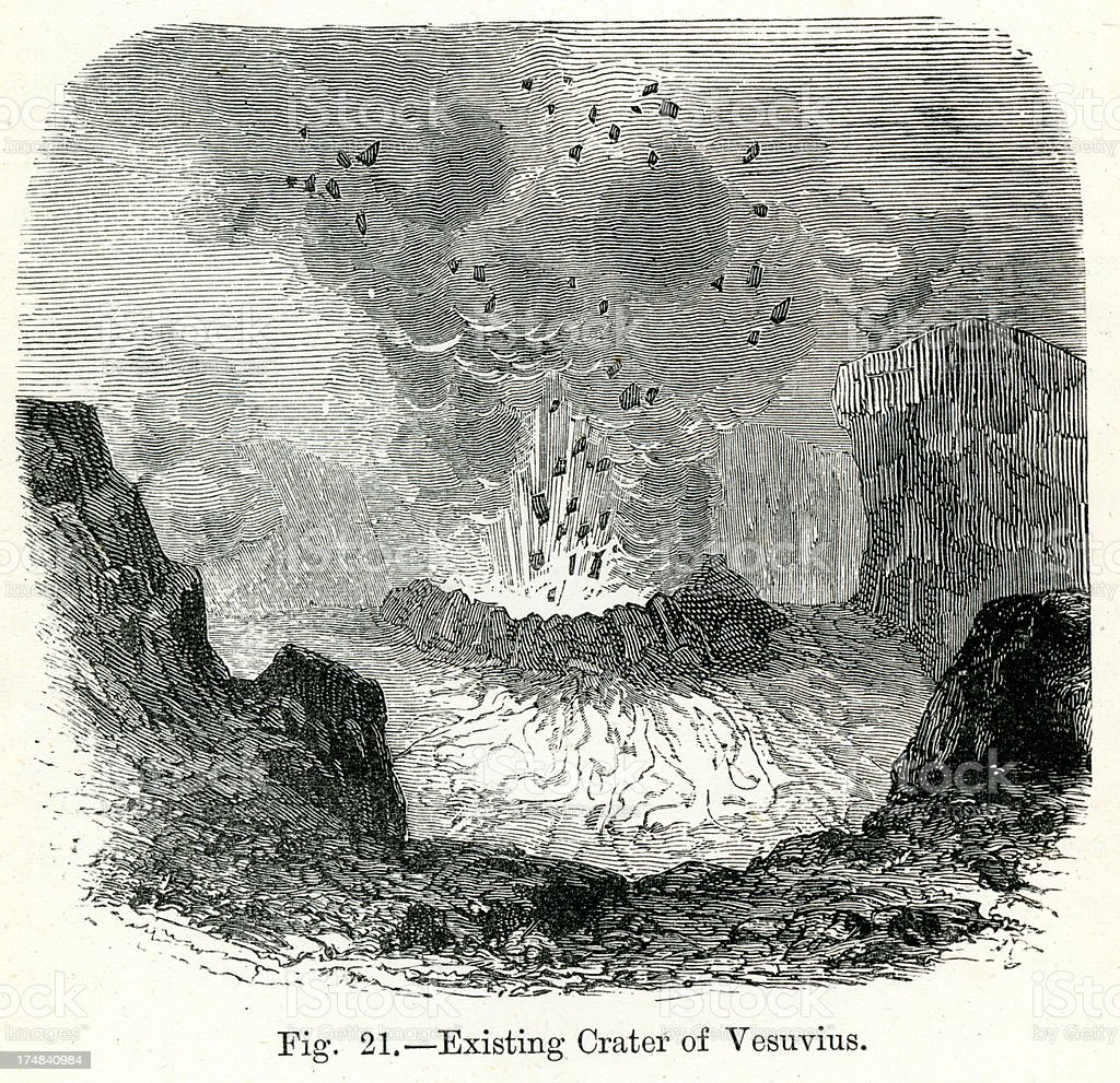 Mount Vesuvius royalty-free stock vector art