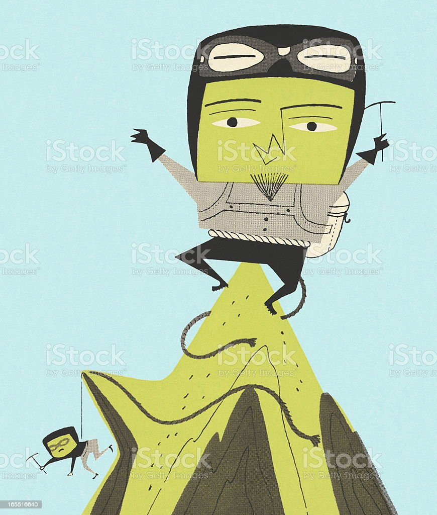 Mountain Climbers royalty-free stock vector art