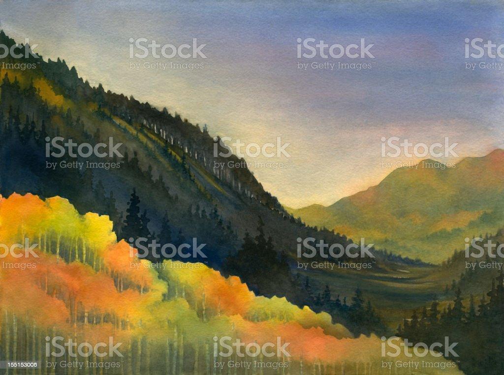 Mountain Gold vector art illustration