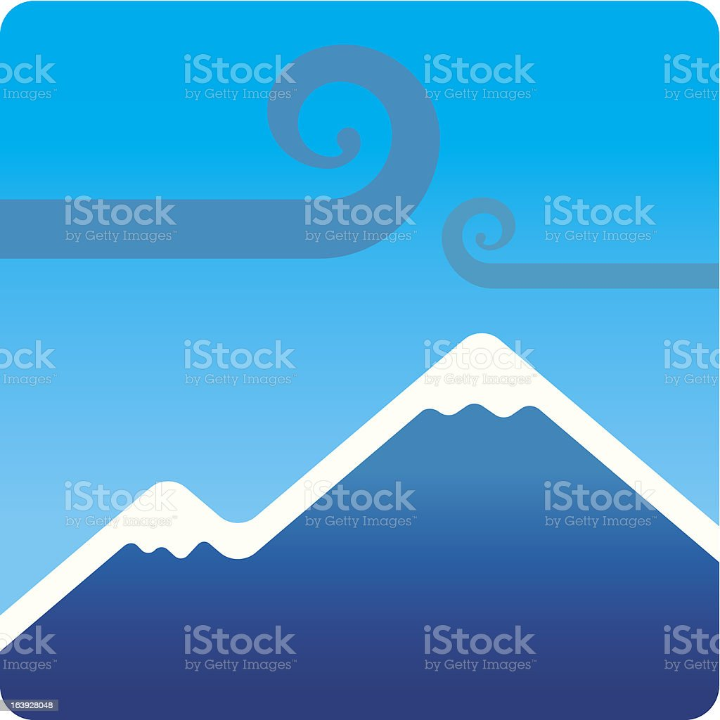 Mountain royalty-free mountain stock vector art & more images of blue