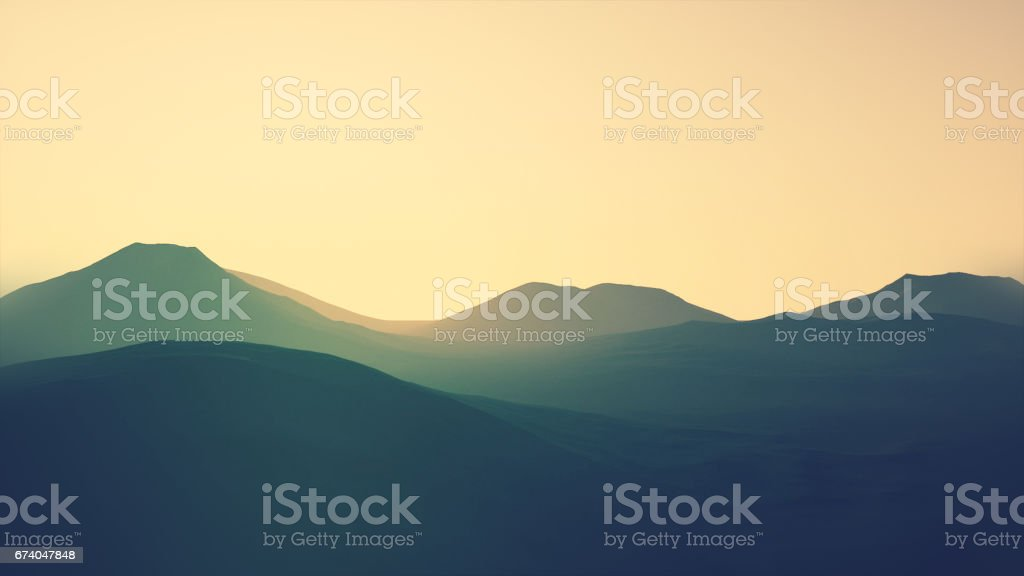 3D Mountain royalty-free 3d mountain stock vector art & more images of 1980
