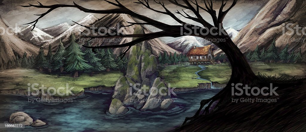 Mountain landscape royalty-free mountain landscape stock vector art & more images of arbol