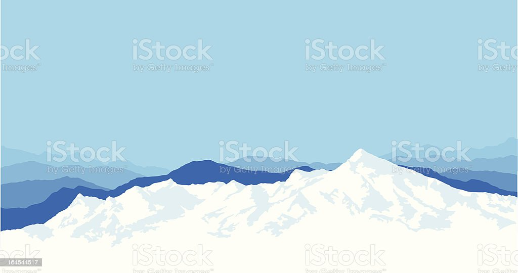 Mountain Range Background vector art illustration