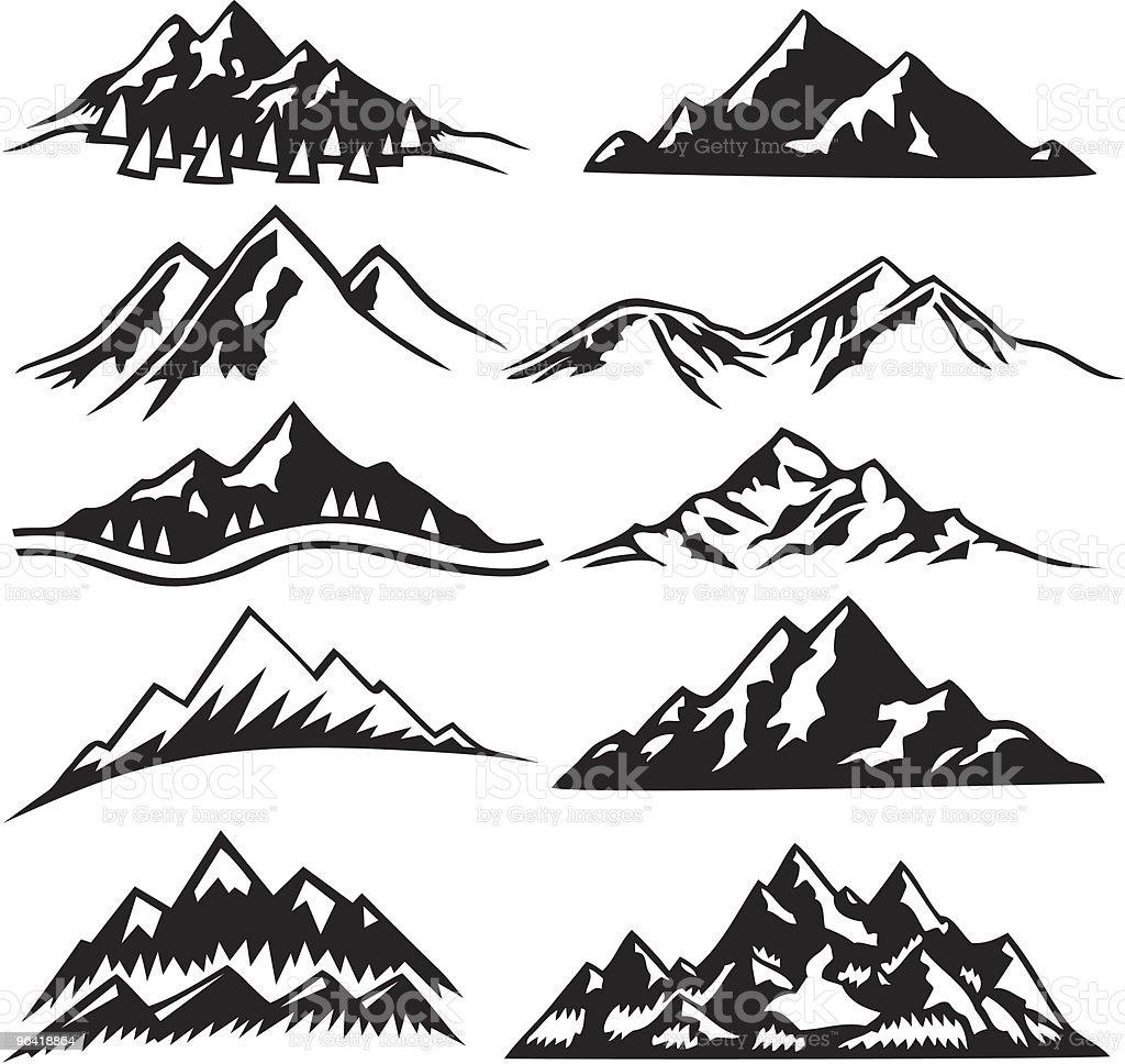 mountain ranges stock vector art 96418864 istock. Black Bedroom Furniture Sets. Home Design Ideas