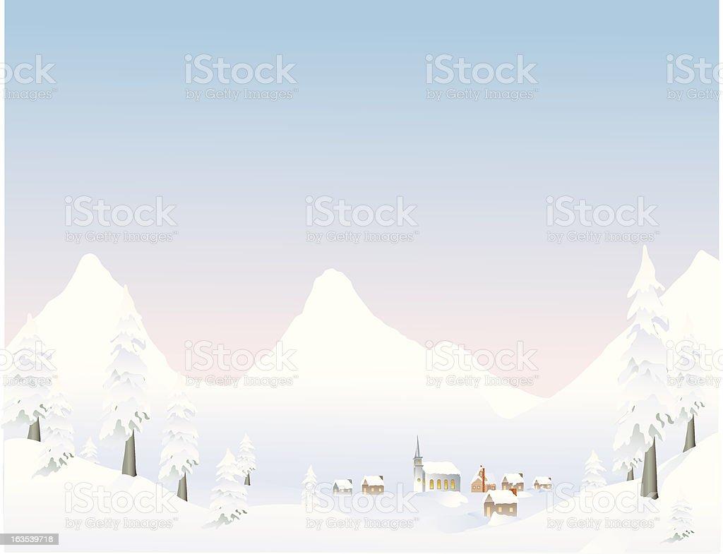 Mountain Village royalty-free stock vector art