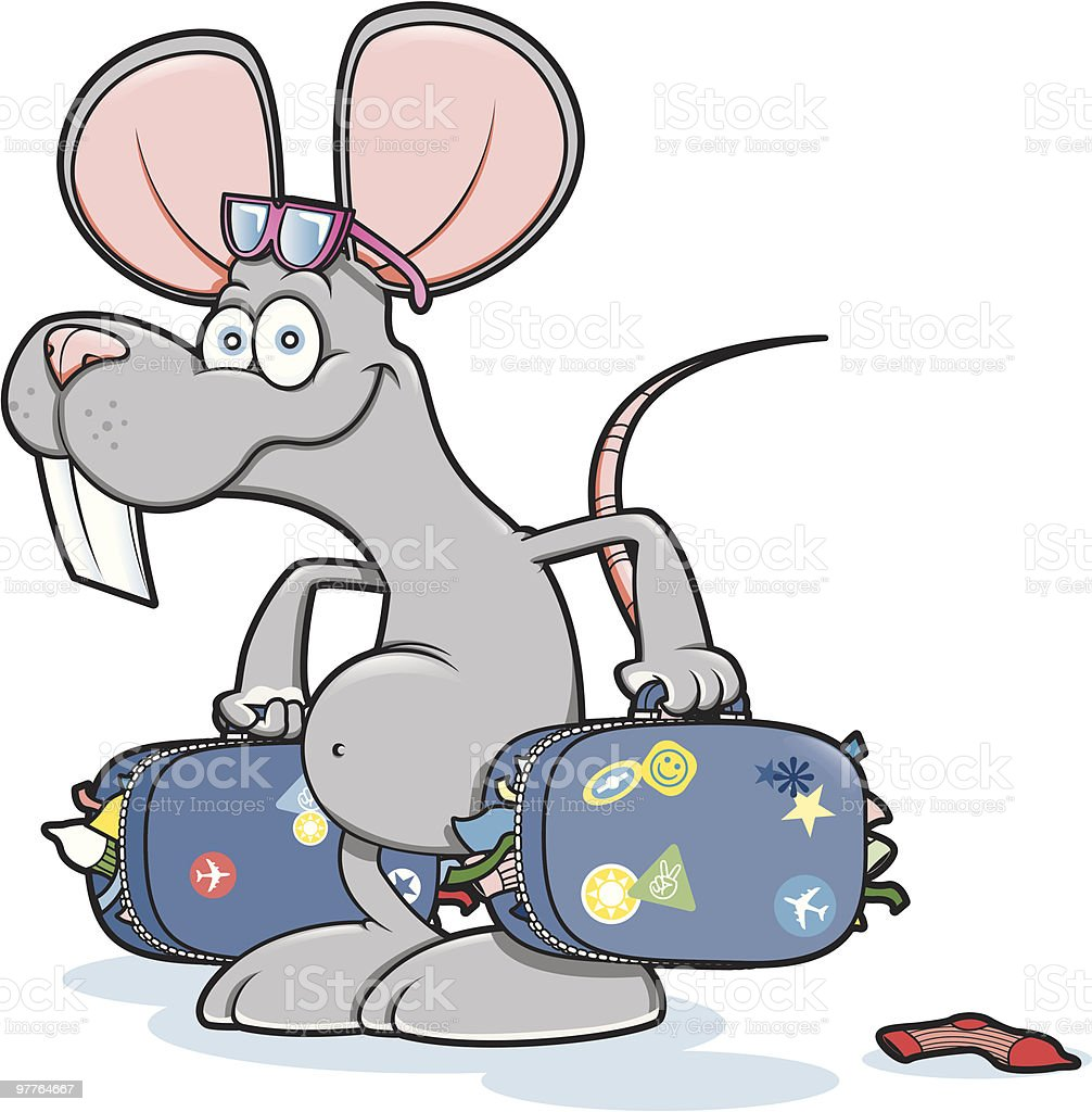 Mouse Holiday Travel royalty-free stock vector art