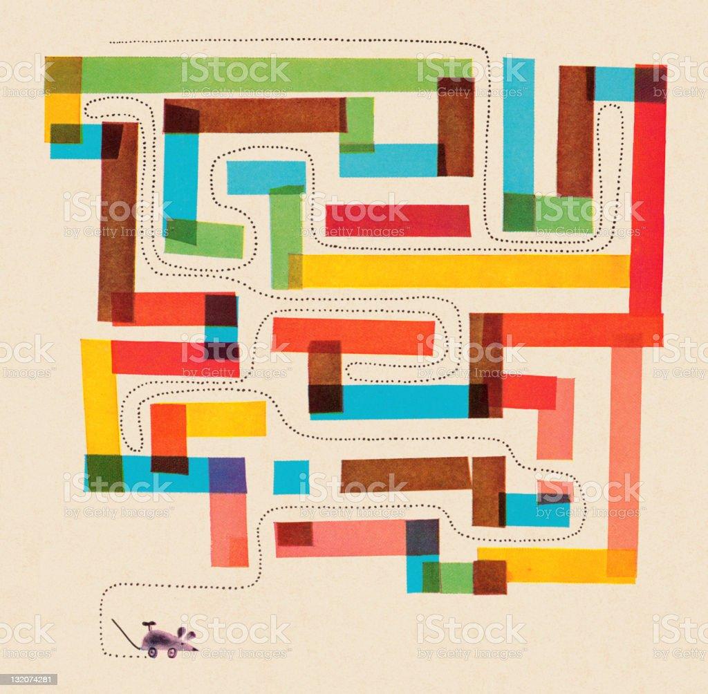 Mouse Maze royalty-free stock vector art