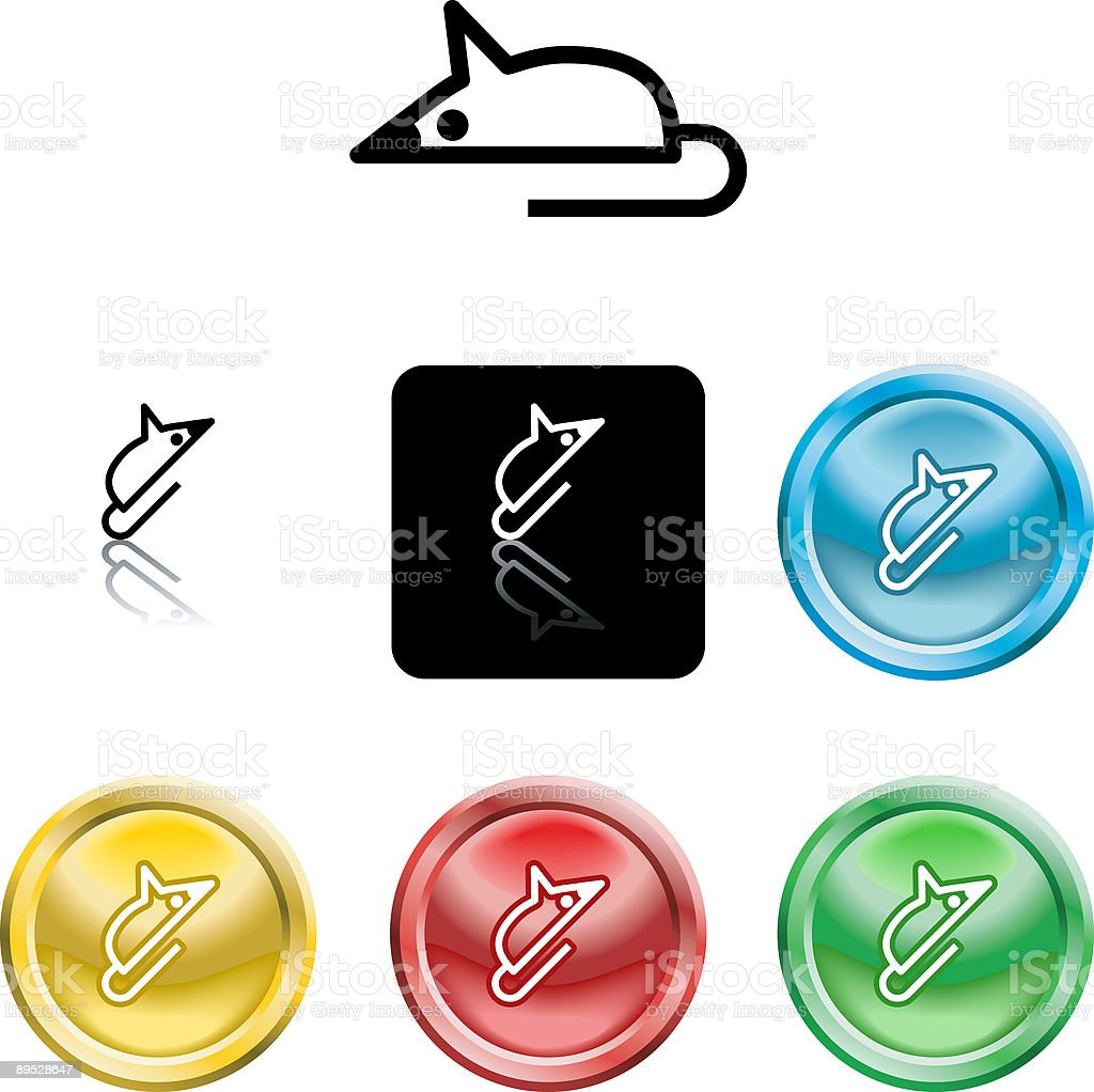 Symbole d'icône de la souris symbole dicône de la souris – cliparts vectoriels et plus d'images de aspect métallique libre de droits