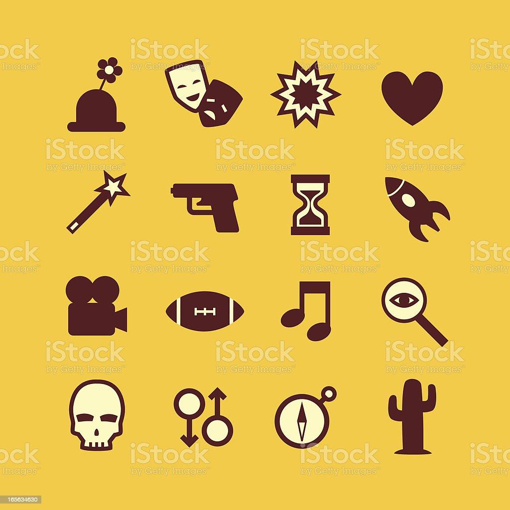 Movie Genre Icons vector art illustration