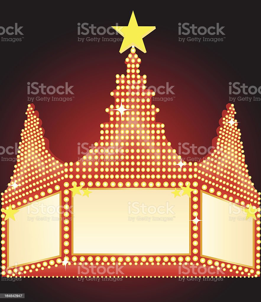 Movie Marquee royalty-free movie marquee stock vector art & more images of arts culture and entertainment