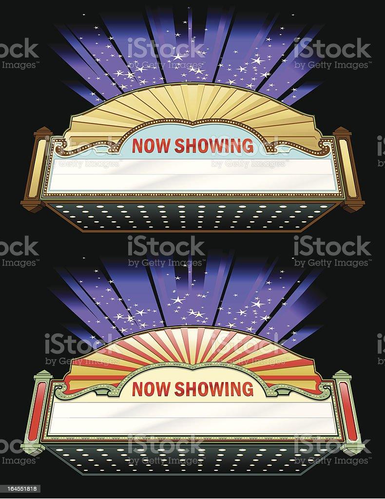 Movie Marquee Set vector art illustration