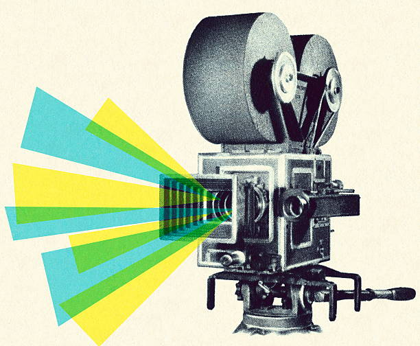 Movie Projector Movie Projector performing arts event stock illustrations