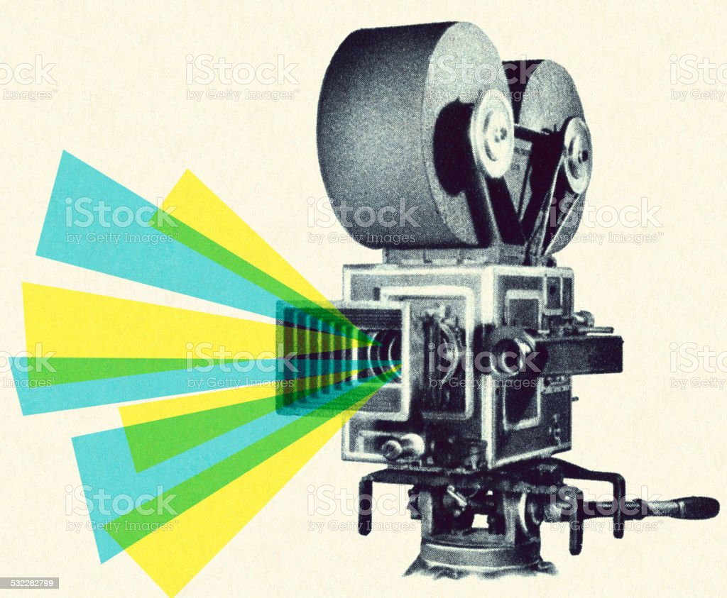 Movie Projector vector art illustration