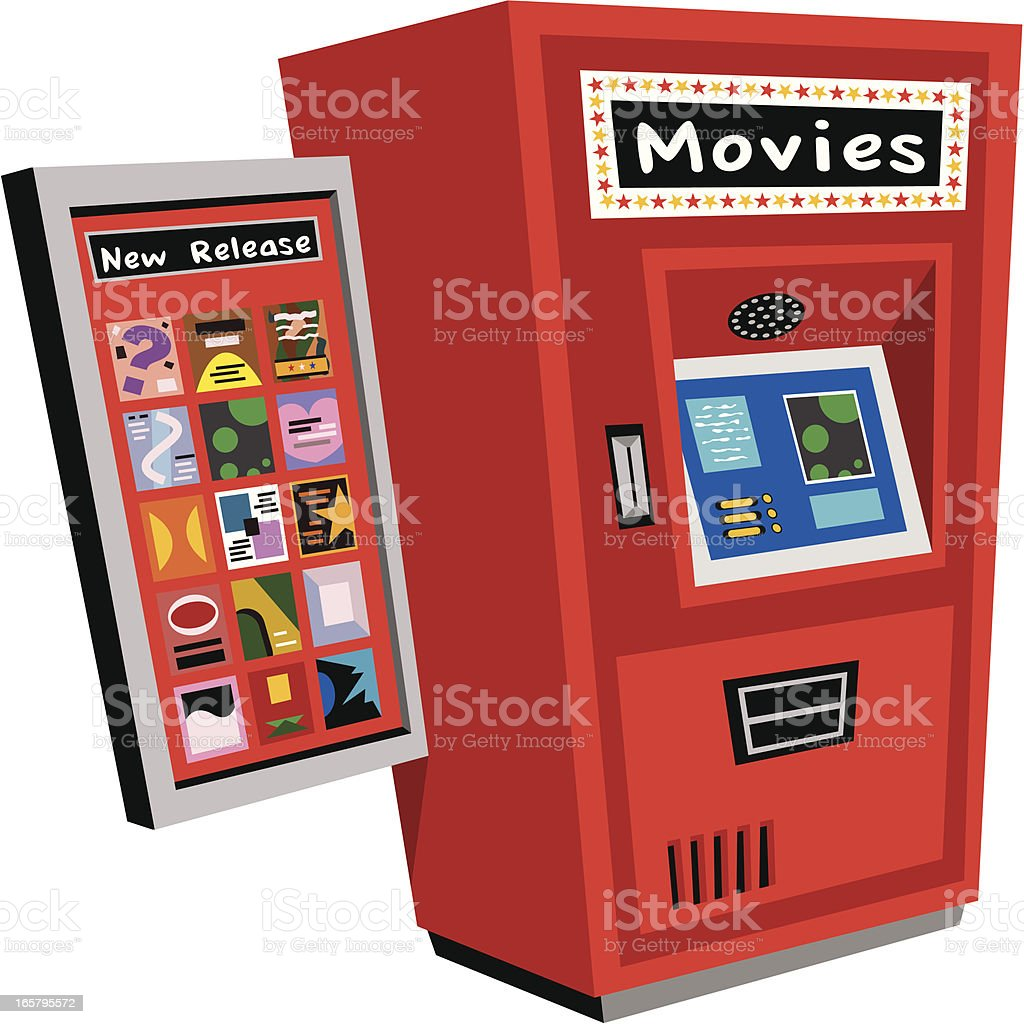 Movie Rental Box royalty-free stock vector art
