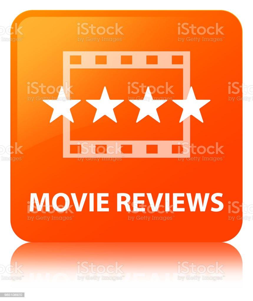 Film Rezensionen Orange Quadrattaste Stock Vektor Art und mehr ...