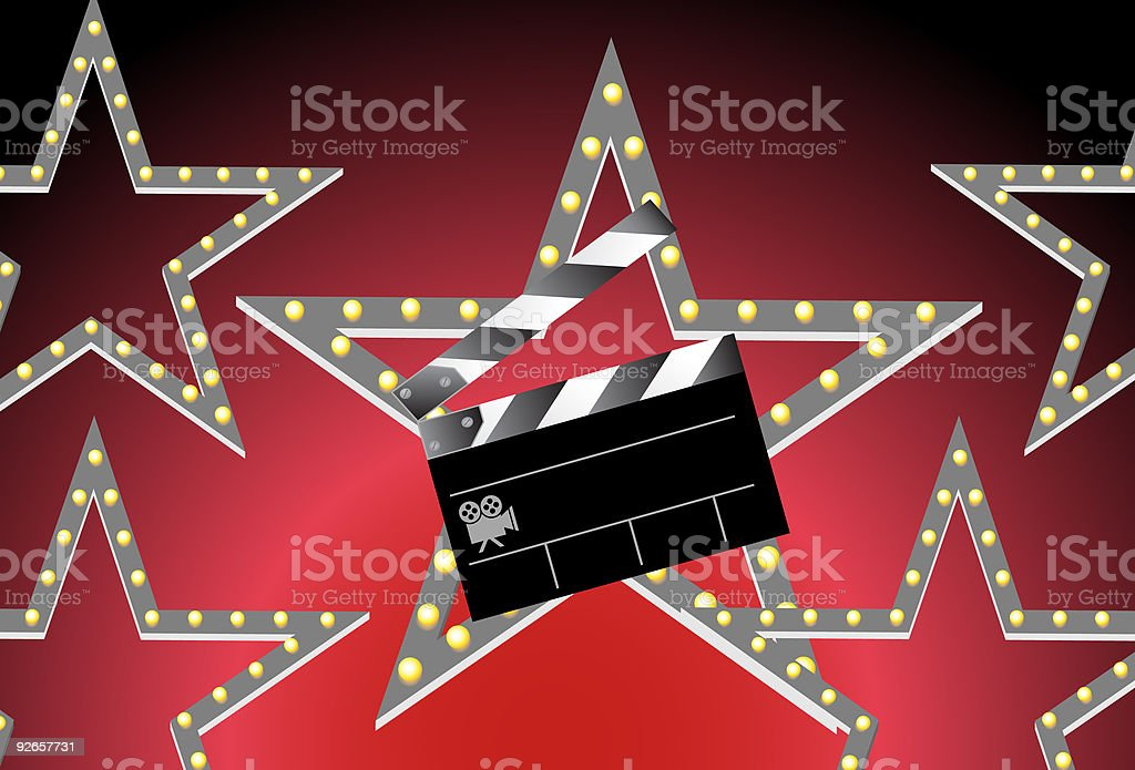 Movie Star Slate Board Background royalty-free movie star slate board background stock vector art & more images of art