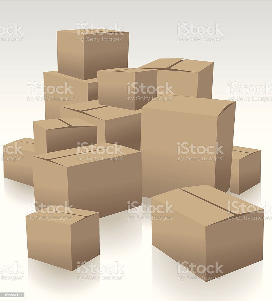 Moving Boxes royalty-free stock vector art