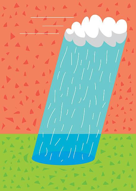 moving rain storm vektorkonstillustration