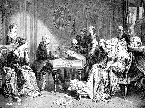 Mozart playing the first time