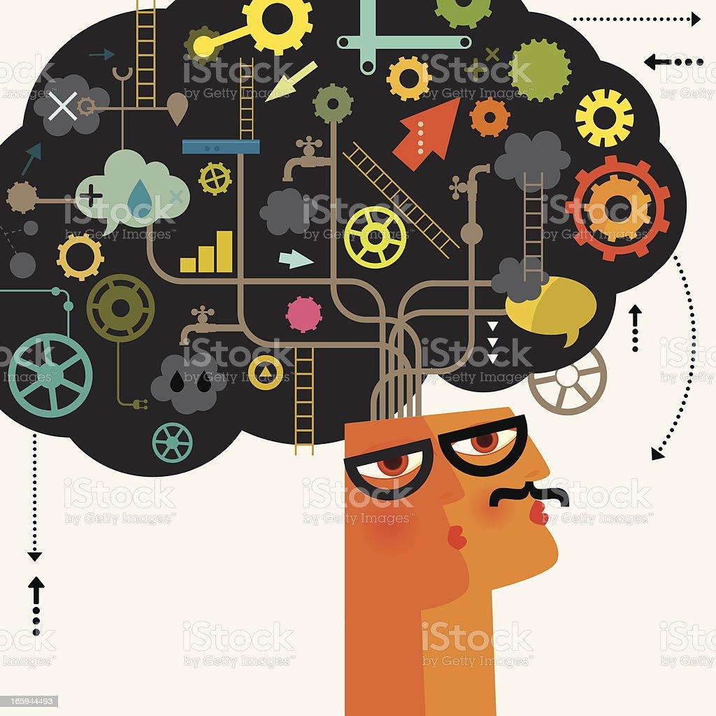 Mr Brainiac royalty-free stock vector art