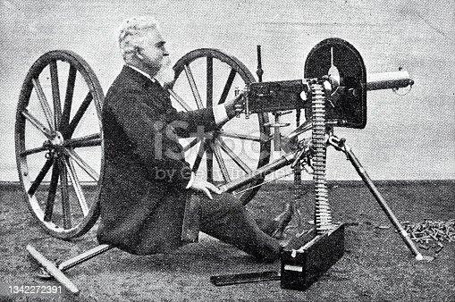 istock Mr. Maxim firing his gun made for the sultan of Turkey 1342272391