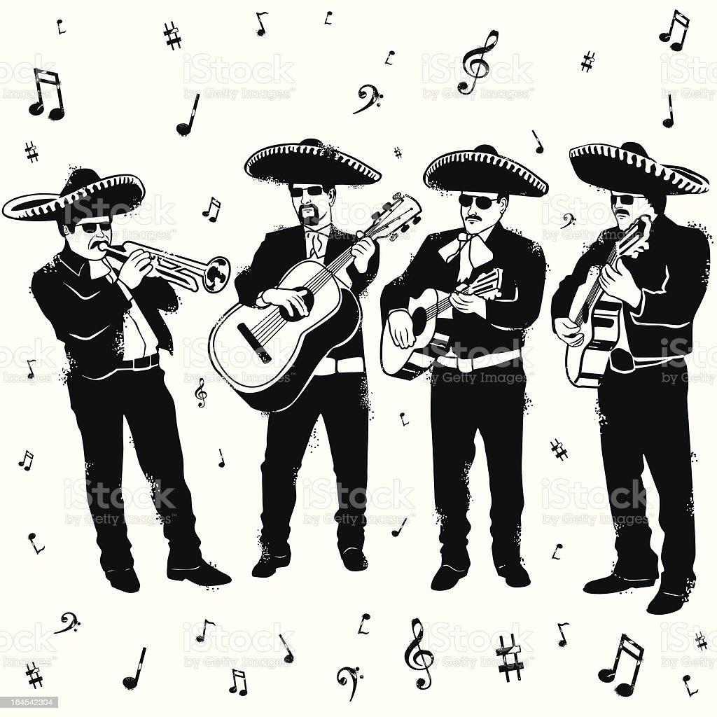 Mucho Mariachi Merryment vector art illustration