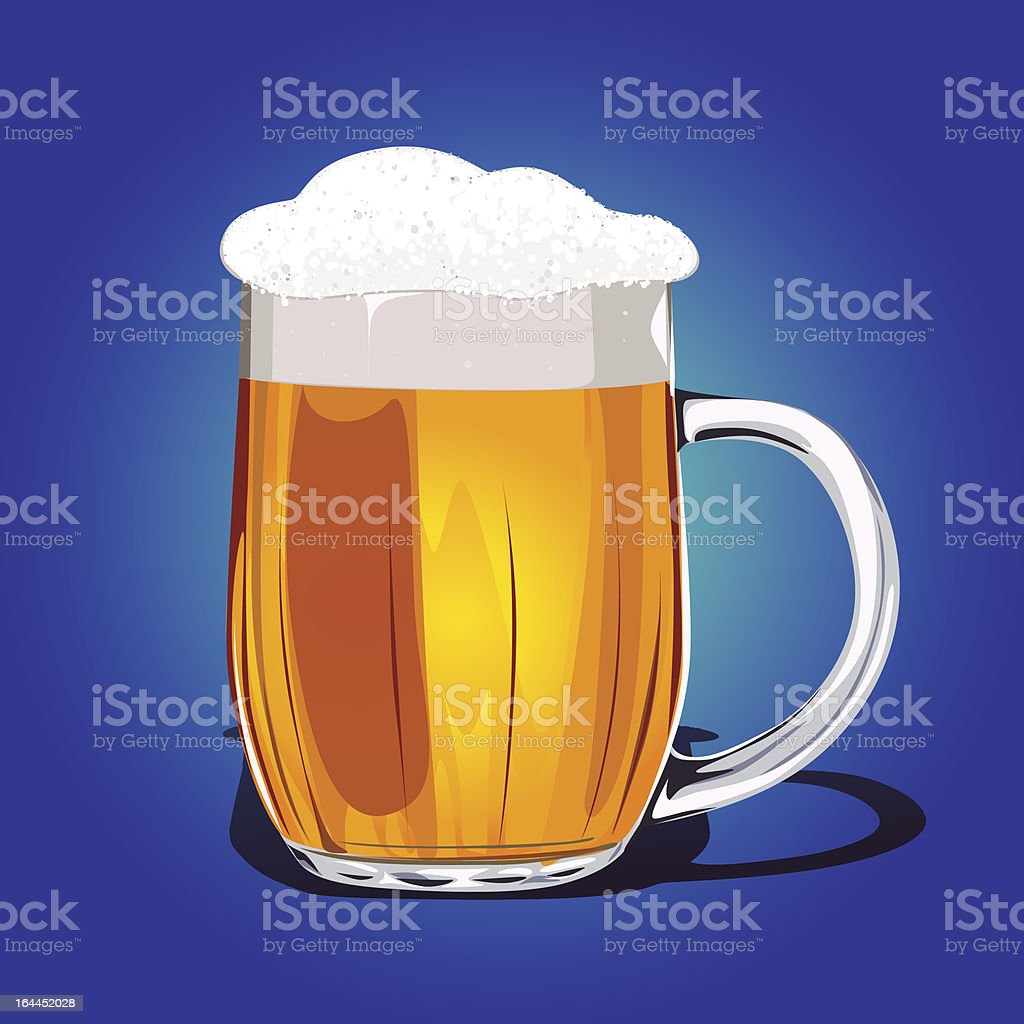 Mug fresh beer vector illustration royalty-free stock vector art