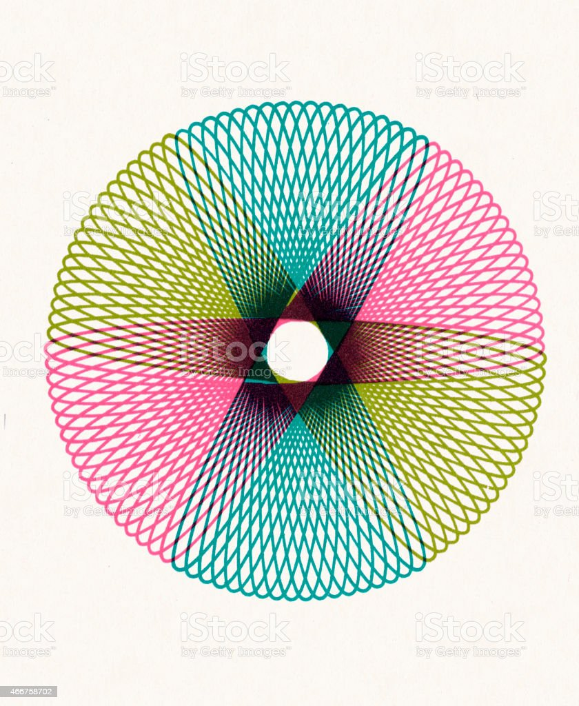 Multi Color Line Design vector art illustration