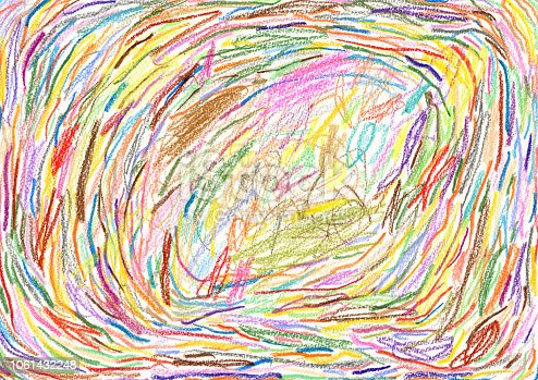 Crayon drawn background pattern