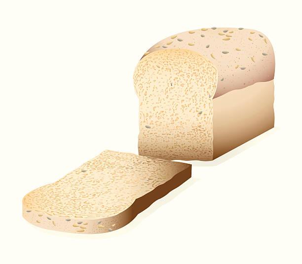 ilustraciones, imágenes clip art, dibujos animados e iconos de stock de multi grano wholemeal pan - pan multicereales