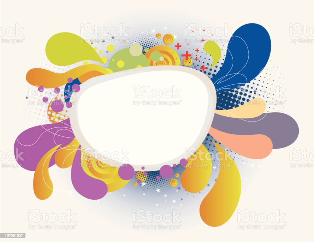 Multicolor Bursting Bubble royalty-free stock vector art