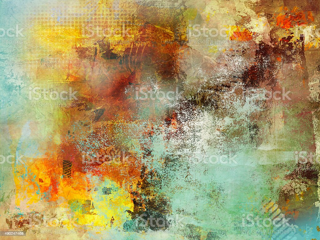 multicolor fall mixed media vector art illustration
