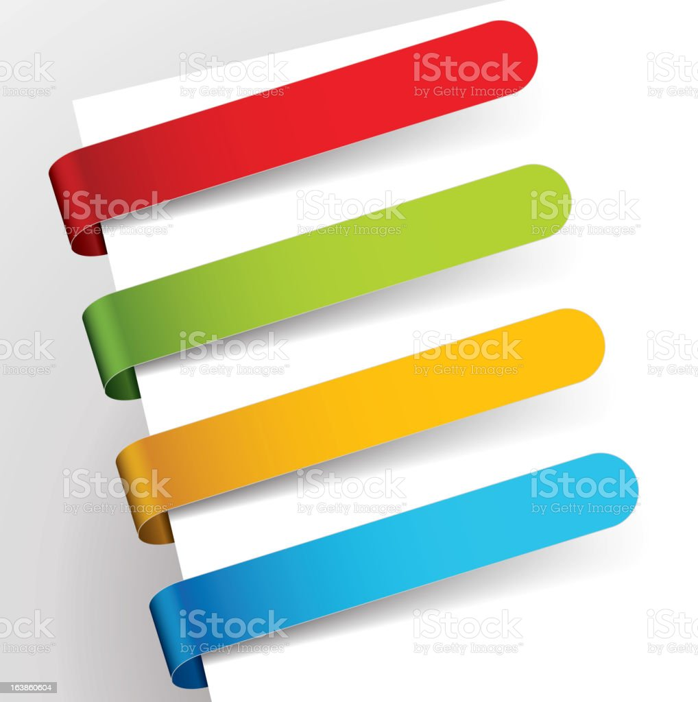 Multicolored corner bookmarks. royalty-free stock vector art