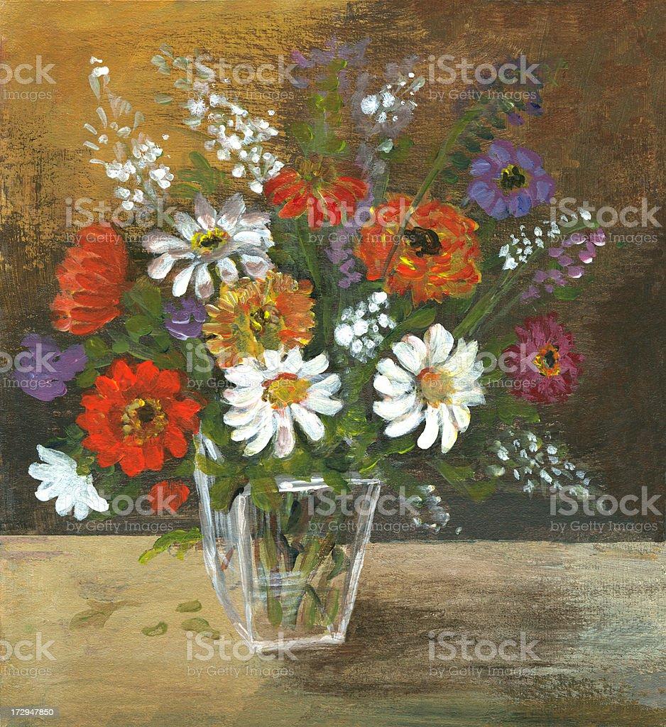 Multicolored flowers arrangement royalty-free stock vector art