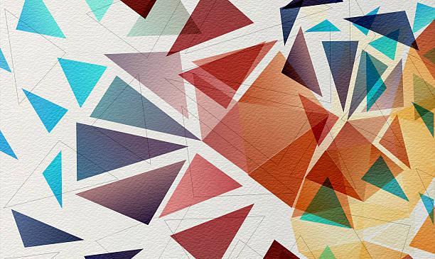 ilustrações de stock, clip art, desenhos animados e ícones de várias larvas multi mosaico de papel de fundo de aguarela - macro
