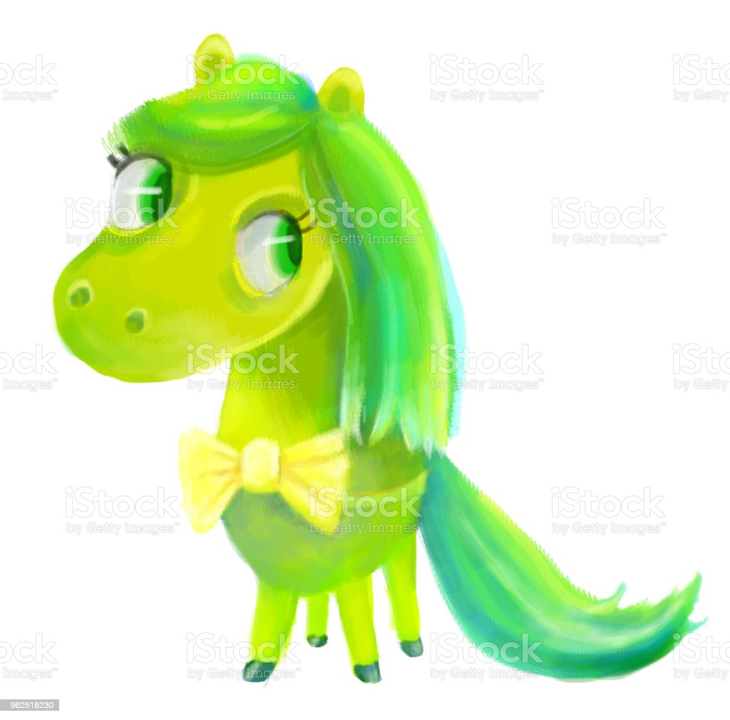 Multi-colored pôneis - Ilustração de Animal royalty-free