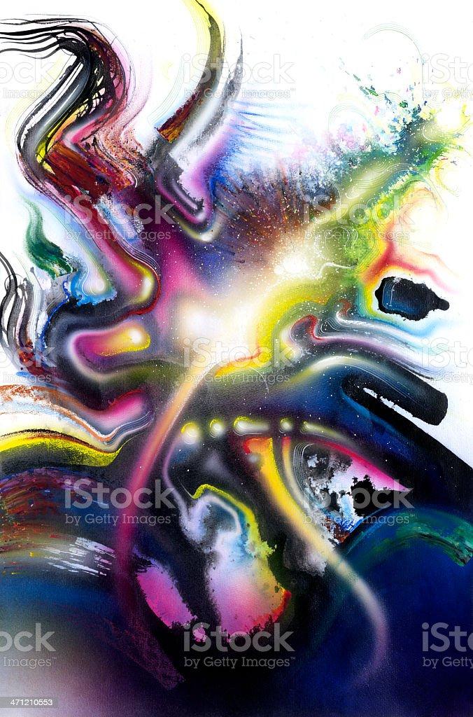 multicolored vivid Splash vector art illustration